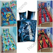 TRANSFORMERS SINGLE DUVET COVER SETS - VARIOUS DESIGNS - KIDS BEDDING - FREE P+P