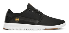 ETNIES SCOUT BLACK WHITE GUM MENS SHOES SKATEBOARD CASUAL SNEAKERS CLEARANCE