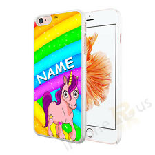 CUTE UNICORN PERSONALISED ANY NAME PHONE CASE COVER FOR VARIOUS MOBILE PHONES