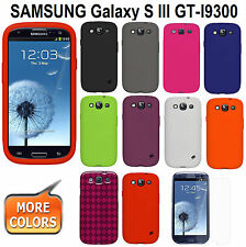 AMZER Skin Gel Cover + xtra Case/ Screen Protector Samsung GALAXY S III GT-I9300