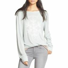 NWT $119 Wildfox Couture Baggy Beach Jumper One of a Kind Sweatshirt Blue S, XS