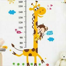 New Removable PVC Giraffe Height Chart Wall Decal Stickers Kids Room Decor Y