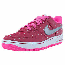 NIKE Girls Womens AIR FORCE 1 GS BASKETBALL SHOES Silver Red Pink POW 314219-603
