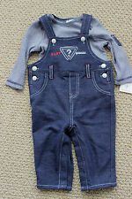 Guess Jeans 3-6 M Pants L/S Tee Top Romper Coverall Overall $47 FREE Ship NWT