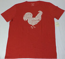 Lucky Brand Short Sleeve Red Graphic T-Shirt     Large     L1917