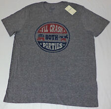 Lucky Brand Short Sleeve Gray Graphic T-Shirt     Large      L1921