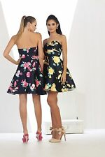 TheDressOutlet Prom Short Dress Floral Print Homecoming Cocktail Party