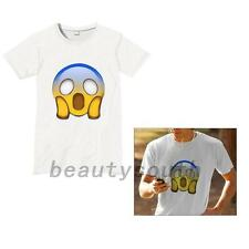Happy Emoji Tongue out Cry Heart  Eyes Tear Summer Beach Graphic T-shirt Top Tee