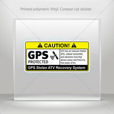 Decal Sticker Gps Protected Prevention Sign Atv Vehicle st5 X4XR3