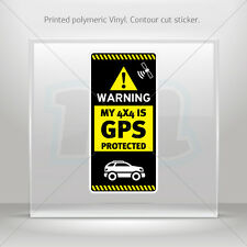 Sticker Decals Gps Protected Prevention Sign 4x4 Vehicle st5 X4RS8