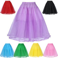 Black White Tea Length Swing Vintage Prom Silps Crinoline Petticoat Swing Skirt