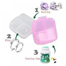 Container Organizer Holder Pill Box Jewelry Case Double Layer