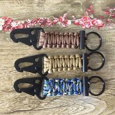 Camping Clip Lanyard. Handmade Firefighter Key Chain Keyring Survival Paracord