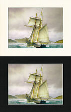 The Dolores Off Salcombe Bar - Mark Myers Mounted Ship/Naval Print