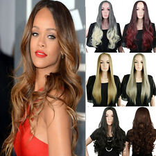 Long Curly Synthetic Hair Half Wig Straight 3/4 Full Wig Hairpiece Cosplay Wig 0