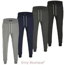 Mens Slim Fit Jogging Tracksuit Bottoms Joggers Trousers Gym Skinny Sweat Pants