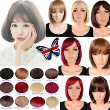 Synthetic Hair Short BOB Full Head Wigs Cosplay Party Daily Fancy Dress Neat 01