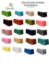 Table Skirt 21' Polyester for table 8 feet . Multiple color Available