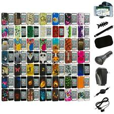 Design Hard Rubberized Color Snap-On Case Cover+8X Accessory for iPhone 4 4S 4G