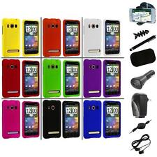 Color Hard Snap-On Rubberized Case Cover+8X Accessory for HTC Sprint EVO 4G