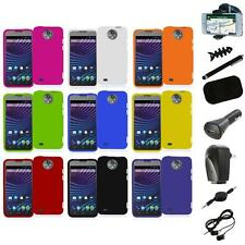 For ZTE Sprint Vital N9810 Hard Snap-On Rubberized Case Cover+8X Accessory