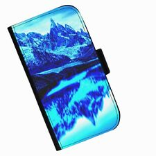 BG 113 SNOW MOUNTAIN PRINTED LEATHER WALLET/FLIP PHONE CASE COVER FOR ALL MODELS