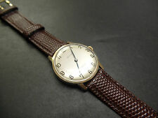 Rare gents solid 9ct gold Baume watch on a stunning hirsch 17mm rainbow strap