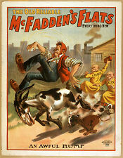 Photo Print Vintage Poster: Stage Theatre Flyer Old Reliable Mcfaddens Flats 02