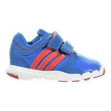 ADIDAS Adipure Infant Boys Trainers Red Blue White Velcro Strap Shoes