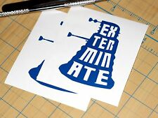 Dr. Who Dalek Sticker  | SET OF TWO | Doctor Who Exterminate Decal