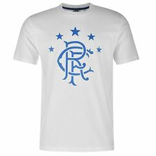 Glasgow Rangers FC Large Crest T-Shirt Infants White Football Soccer Top Tee