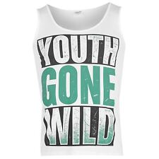 Asking Alexandria Youth Gone Wild Vest Mens White Music Band Singlet Top Shirt