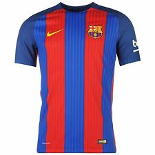 Nike FC Barcelona Home Authentic Jersey 2016 2017 Mens Royal/Red Football Soccer