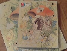 Vintage 1980 24 Piece Merry Mouse Jigsaw Puzzle by Milton Bradley Ages 3 to 7