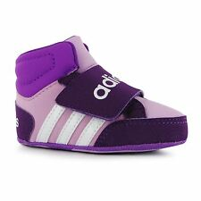 Adidas Hoops Trainers Crib Shoes Infant Baby Orchid/Wht Babies Booties Footwear