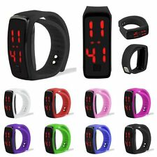 Womens Mens Striking Silicone LED Sport Bracelet Touch Digital Wrist Watch Gifts