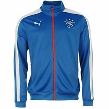 Puma Glasgow Rangers Track Jacket Mens Blue/White Football Soccer Tracksuit Top
