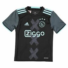 Adidas Ajax Away Jersey 2016 2017 Juniors Black Football Soccer Top Shirt