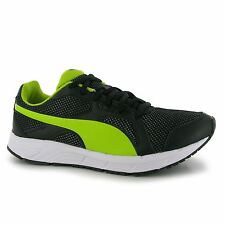Puma Axis Mesh Trainers Junior Boys Black/Lime Sports Shoes Sneakers Footwear