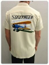 Men's Airplane Shirt-World War II Airplane-Stearman Vintage Airplane Shirt