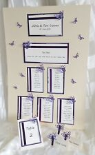 Wedding Stationery 60 guests - Table plan, Table numbers & Place cards Butterfly