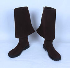 Mens Tall Pirate Boots Fold Over Renaissance Fair Costume Cosplay New