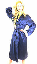 Midnight Japanese Kimono Dressing Gown Bath Robe Nightwear Lace Trim Blue