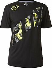 Fox Racing Mens Black Slasher Blaster Short Sleeve Tech T-Shirt Tee