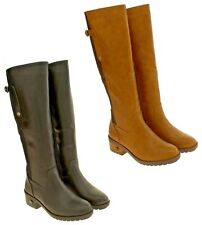Womens Betsy Faux Leather Faux Fur Lined Knee High Boots Size UK 3 4 5 6 7 8