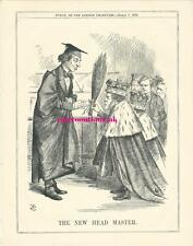 1868 Punch Cartoon New Head Master Birch Power