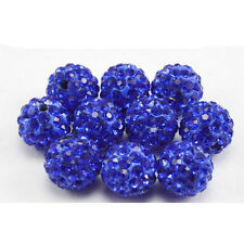 20Pcs Czech Art Crystal Rhinestones Pave Clay Round Disco Ball Spacer Bead 8mm