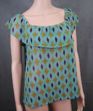 La Redoute patterned blue/green/yellow/pink light weight dress, top. size 10/12