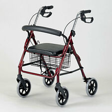 Pattersons Homecraft Four Wheeled Rollator - Cable Brakes - RUBY