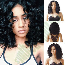 Lady Short Synthetic Wig Afro Kinky Curly Shaggy Hair Full Wigs Bob Style Wig a0
